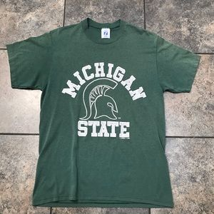 VTG 90's Michigan State S/S T-Shirt Size Large(M)